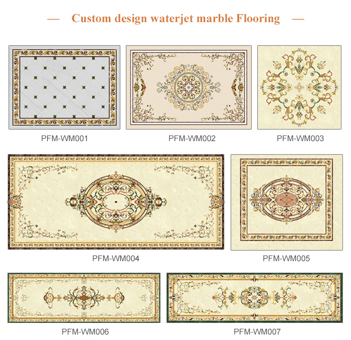 Free consultation Hotel lobby marble medallion pattern waterjet marble flooring design