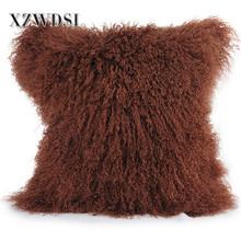 CX-D-04N OEM Custom Service Square Lamb Fur Body Pillows For Decorative