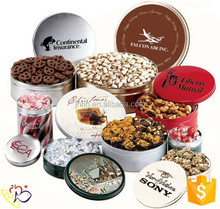Biscuit Cookie Box Packaging / Sweety Round Tin Cans /4c Printing Metal Packaging proveedor china