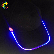 LED Light Glow Club Party Sports Athletic Black Fabric Travel Hat Cap