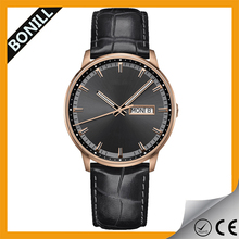 Bonill Vogue uniform wares minimal leather watches mens leather watch with japanese movement
