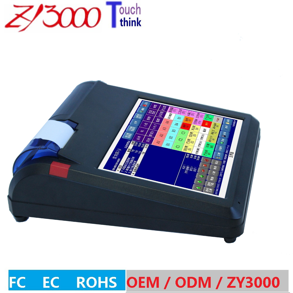 All In One touch pos system nfc terminal pos barcode scanner with built in pos printer