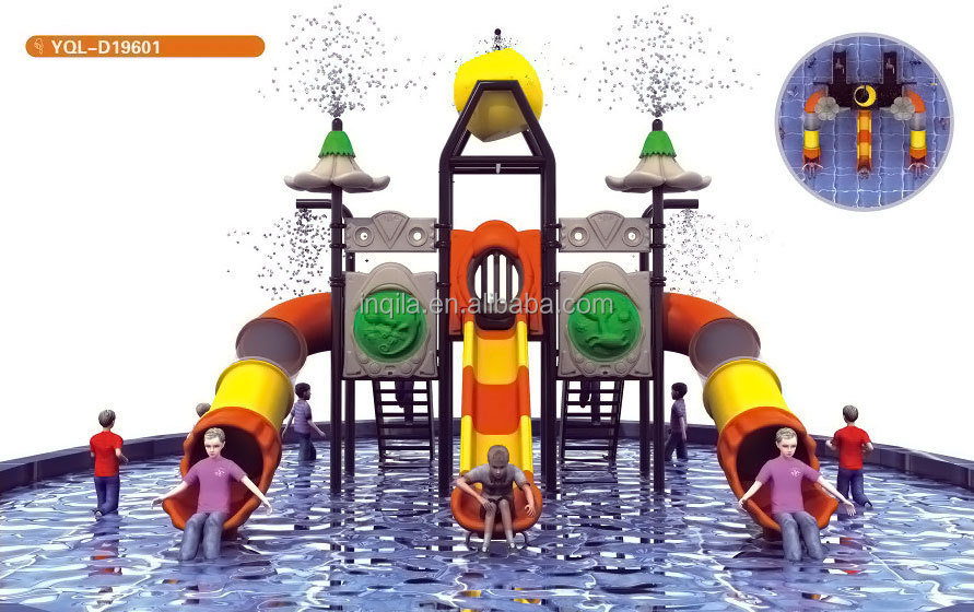 Water park equipment kids plastic pool slide