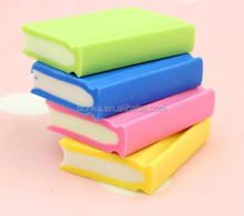 kids gift toy book design rubber eraser