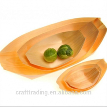 restaurant sushi boat food wooden row boat for hot sale