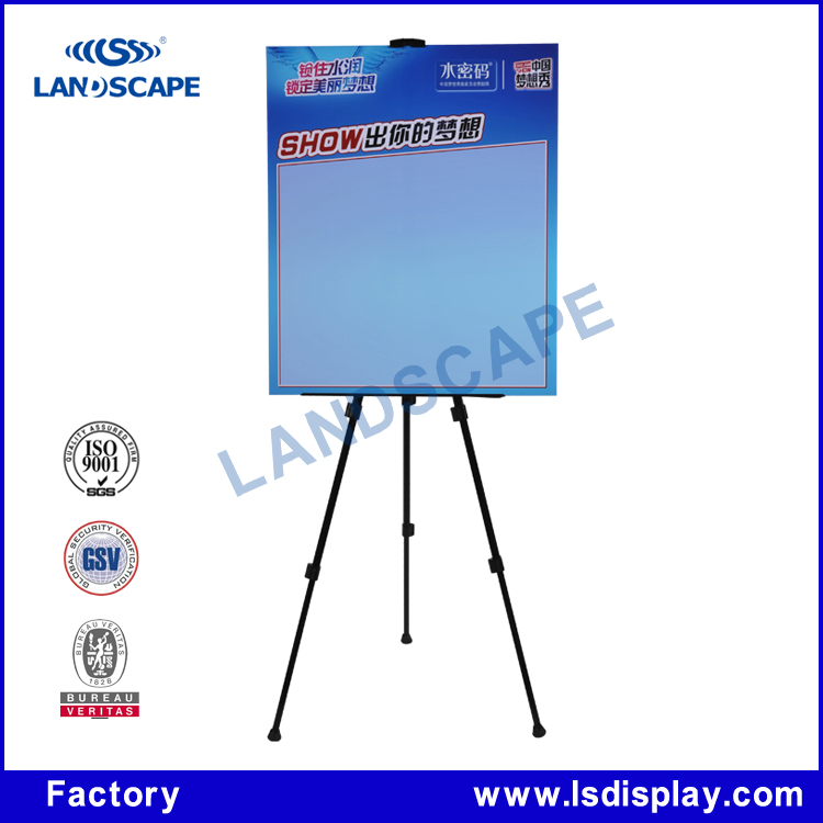 Custom rotating display steel tube photo exhibition display stand/flooring advertising photo display stand banner