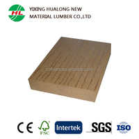 100*22mm Solid Wood Plastic C0mposite Decking with Good Price
