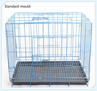 Wire Folding dog cage Pet Crate stainless steel dog cage