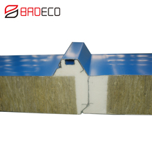 Different Models Rockwool metal sandwich panel roofs rockwool roof for fireproofing