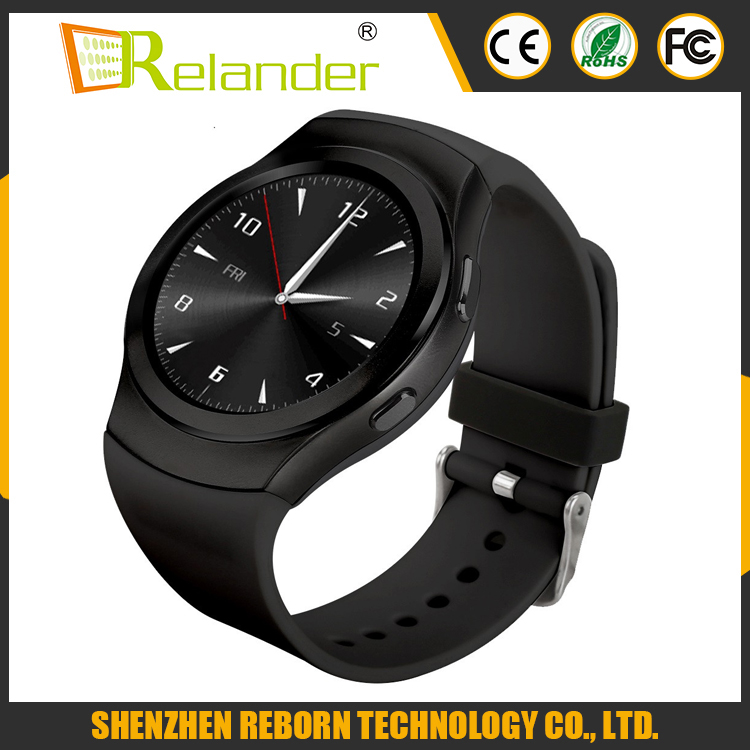 Original NO.1 G3 IPS 1.3inch round touch screen MT2502 64MB+128MB pedometer heart rate fitness smart watches with Max 16GB
