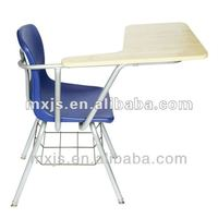 2014 hot sale lecture hall chair with wooden tablet