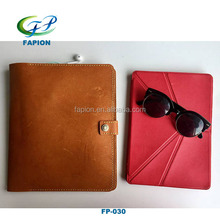2017 hot new products leather tablet leather sleeves for ipad air 2 case with many compartment