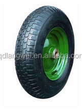 $30000 Trade Assurance flat free tire 4.00-8 wheel barrow wheel 8 inch inflatable rubber wheel