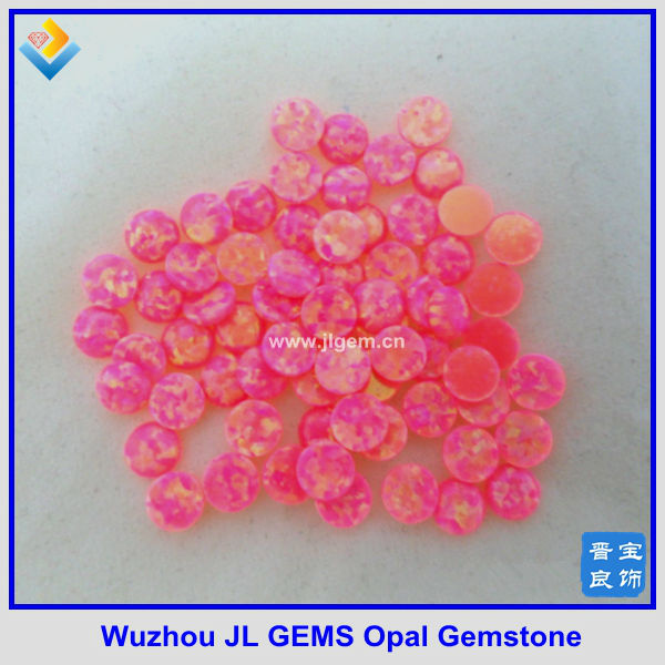 Hot Sale Synthetic Round Pink Opal Gemstone price