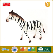 Plastic animal model figurines zebra toys