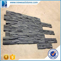 China black slate natural stone veneer panels culture stone cheap price