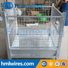 Warehouse metal storage high quality galvanized steel folding crate