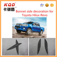 4x4 Accessory Car Engine Hood Cover For 2015 Toyota Hilux Revo Car Bonnet side decoration For Toyota Hilux Auto Parts