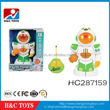 2015 new products 2 channel remote control robot with basketball/light/music HC287159