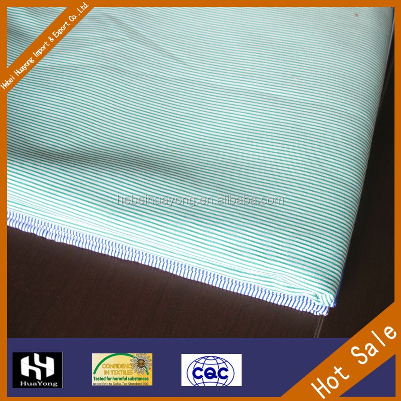 China textile fabric supplier stripe cotton hospital medical grade bed sheet fabric