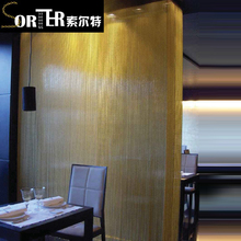 decorative aluminum double hook chain door curtains