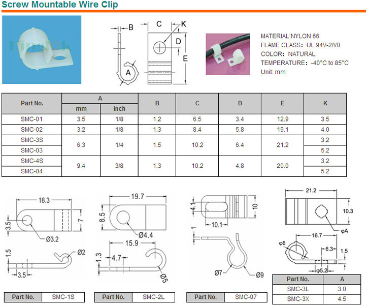 Cable tie mount Wire Mount High Quality Harness Clip With Push Mount Anchor plastic mounting clip HCMP06B12-M20
