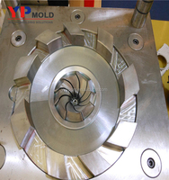 plastic turbo blade injection impeller mold making and casting
