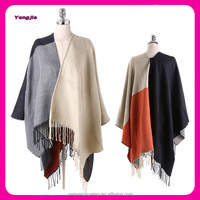 Winter Women Lady Fashionable Acrylic Thick Warm Cape Wraps Poncho Cashmere Shawl