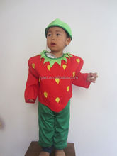 knitted fabric 3pcs set strawberry infant carnival costume