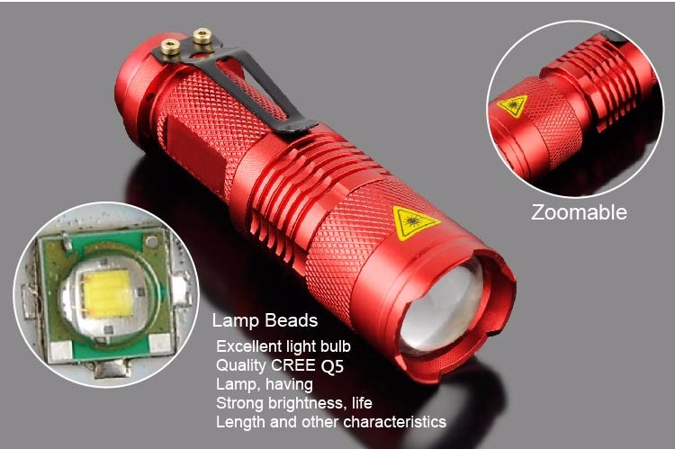 Zoomable Focus SK68 UV 365nm 3W 1M UV Purple Light LED Flashlight Torch UV Light