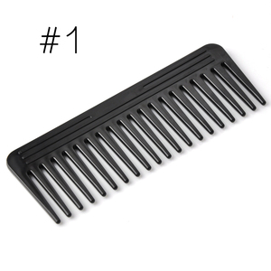Black 19 Teeth Hair Comb Plastic Heat-resistant Large Wide Tooth Hair Comb Detangling Wide Teeth Hairdressing Comb