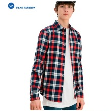 2017 New Design Custom Men Longsleeve Plaid Shirts Men Flannel Checked Shirts