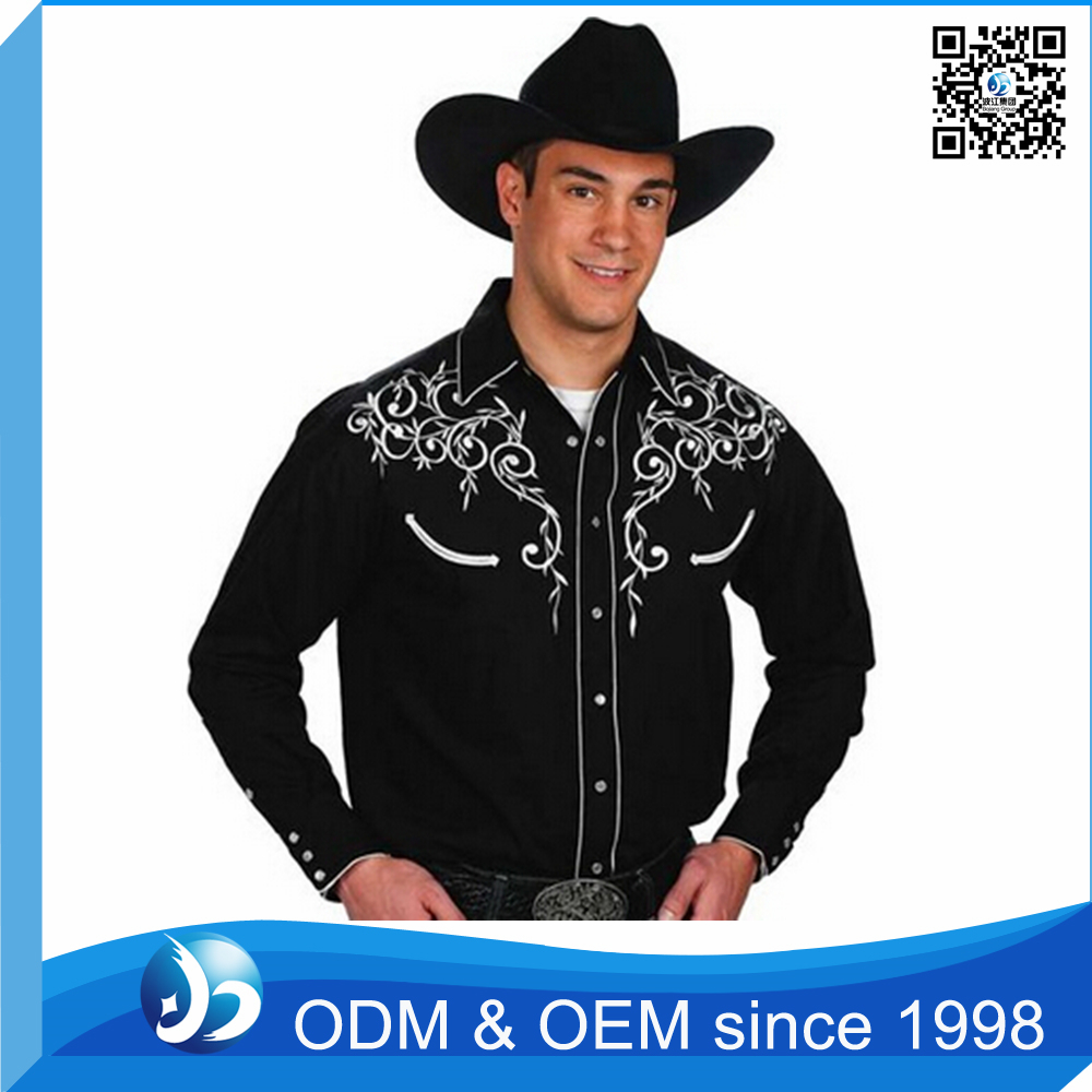 Custom Men's Cowboy Embroidered Shirt Designs