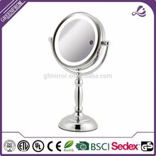 New arrival double sides Standing Pedestal lighted dressing mirror