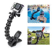 factory for gopro accessories Jaws Flex Clamp Mount + Adjustable Neck for gopros
