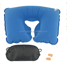 3 In 1 Comfortable Pillow Kit Inflatable Travel Neck Cushion Pillow Supports Head & Neck
