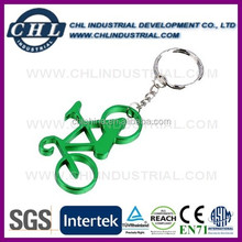 Bicycle shaped bottle opener parts with keychain