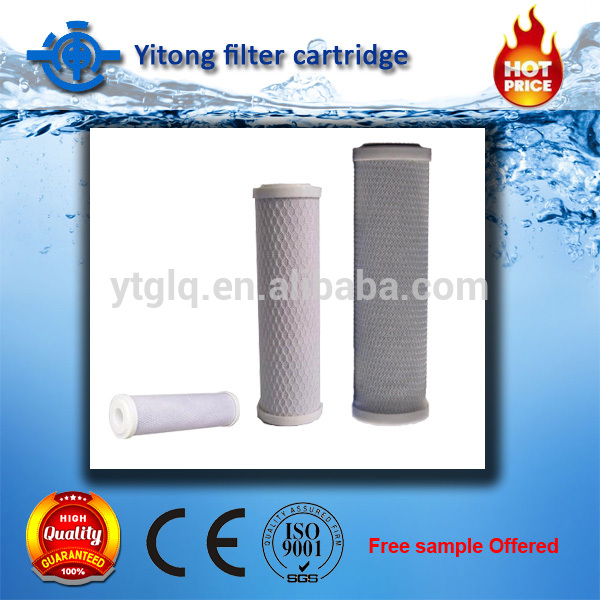 Quality CTO activated carbon block filter cartridge for <strong>color</strong> <strong>removing</strong>