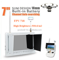 Built in Battery 7 Inch 5.8GHz LCD Diversity Receiver ,Channel Auto Searching