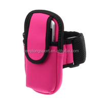 2015 cell phone bag for girls, adjustable armband strap, soft neoprene material