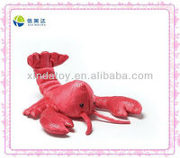 Red shrimp stuffed toy