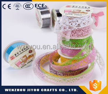 Colorful Glitter PVC Lace Adhesive Tape For <strong>Gift</strong>