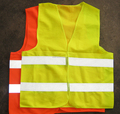Chile Standard 60g Polyester Fluorescent Orange Cross Back Reflective Vest in Stock or custom