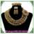 2017 African wedding Beads Necklace Set Big Costume Jewelry Set Coral beads necklace