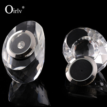 Oirlv Clear Crystal Shop Exhibitor Bare Diamond Storage Collection Jewelry Box Loose Diamond Display Box