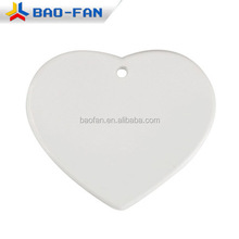 Sublimation heart Christmas ceramic ornament