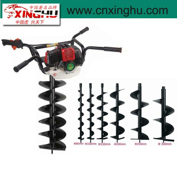 52cc double side gasoline earth auger / hole digging machine