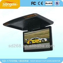 19 inch bus tv dvd roof mount monitor/player