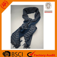 beautiful winter knitted long colorful scarf for men