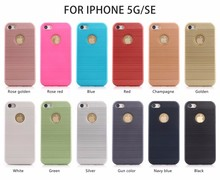Hot New products brushed texture pc tpu armor phone case for iphone5 5s